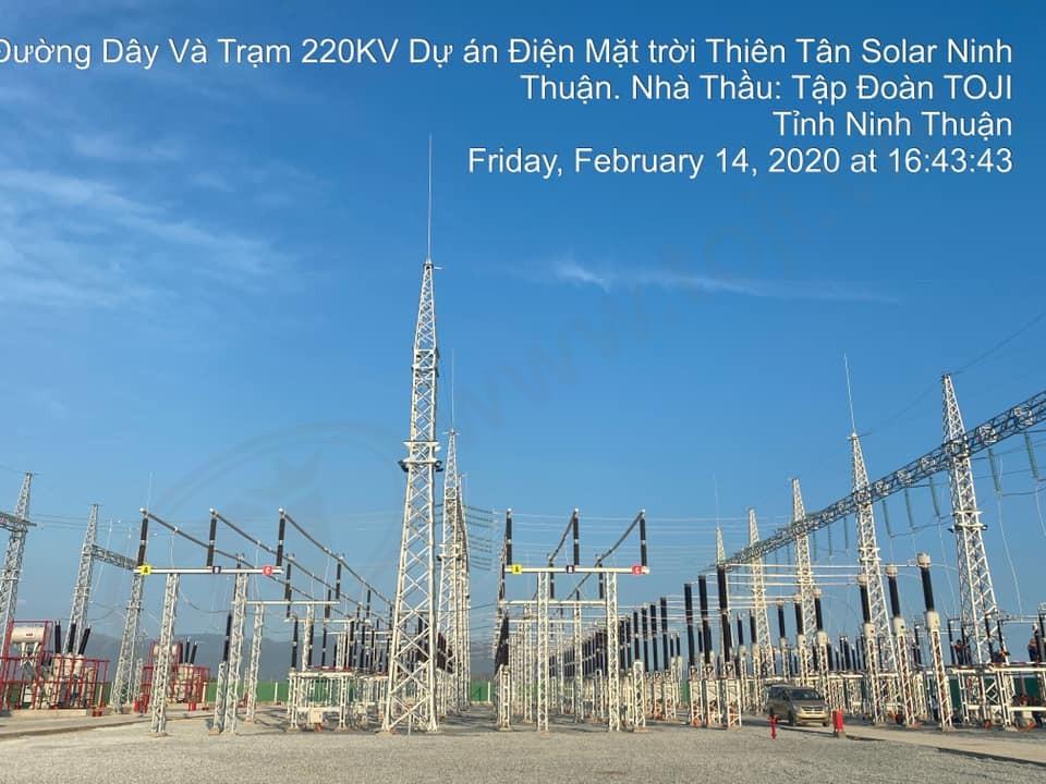 TOJI đóng điện thành công trạm 220kv Thiên Tân Solar Ninh Thuận