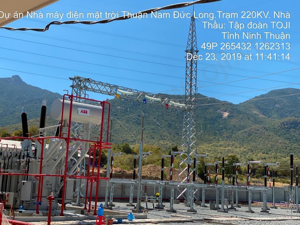 Đóng điện Thành công Trạm biến áp 220KV Thuận Nam Đức Long