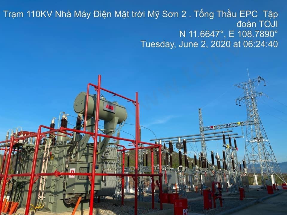 Đóng điện thành công trạm 110kV Mỹ Sơn 2