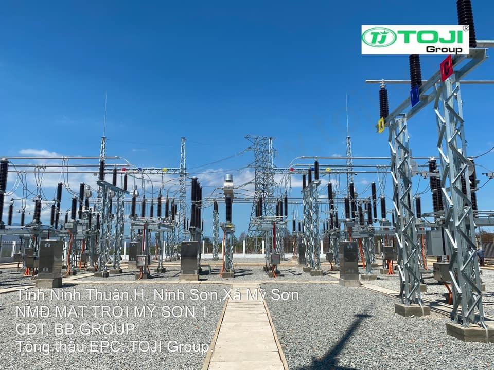 Đóng điện thành công trạm 110kV điện mặt trời Mỹ Sơn 1