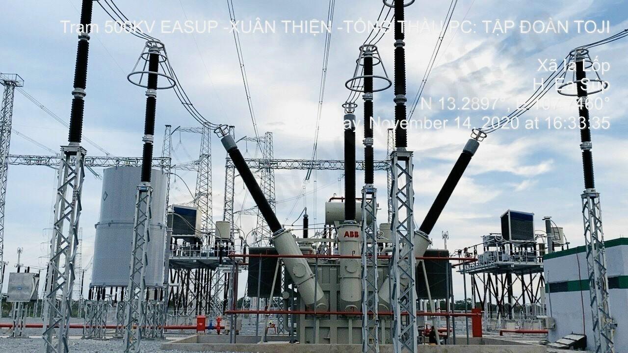 Đóng điện thành công TBA 500kV Xuân Thiện Ea Sup nhà máy điện mặt trời 830MWp