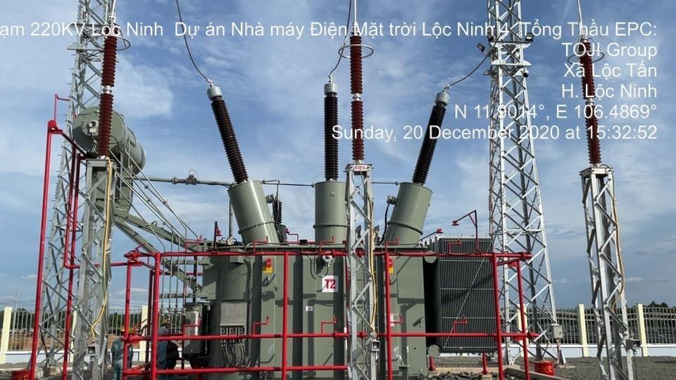 Đóng điện thành công trạm 220kV Lộc Ninh 4