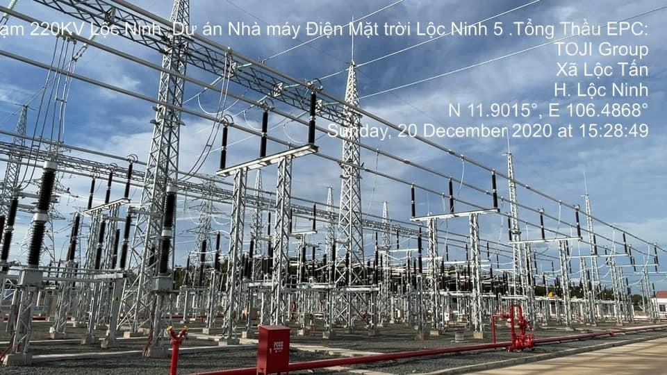 Đóng điện thành công trạm 220kV Lộc Ninh 5