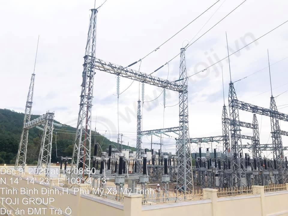 Đóng điện thành công Trạm 110kV nhà máy điện mặt trời Đầm Trà Ổ