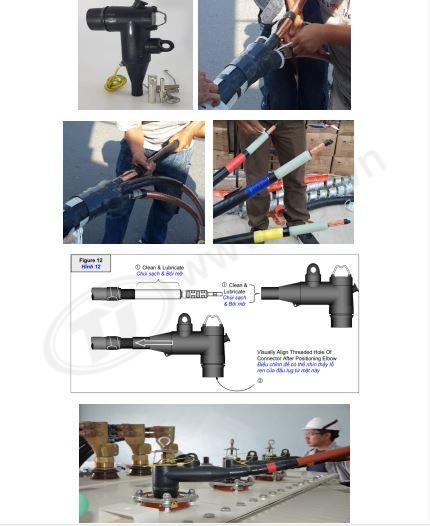 Quy trình lắp đặt đầu cáp 3m Elbow 24kV